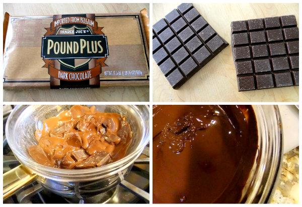 melting dark chocolate