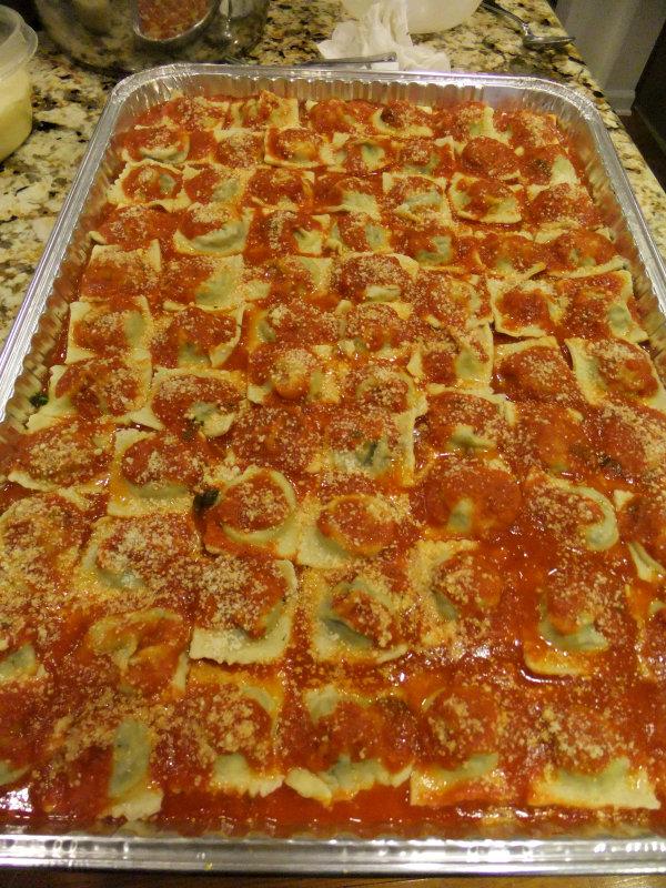 cooking ravioli