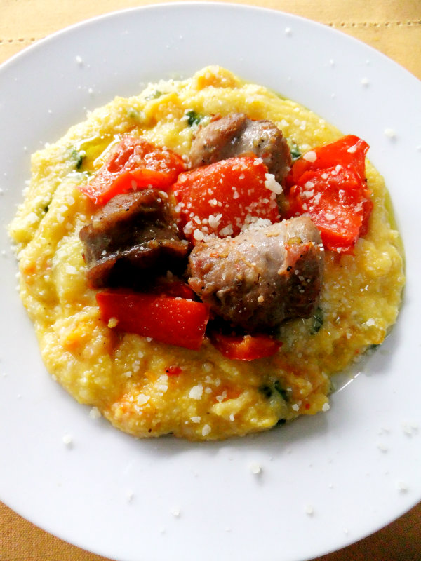 polenta with sausage and peppers