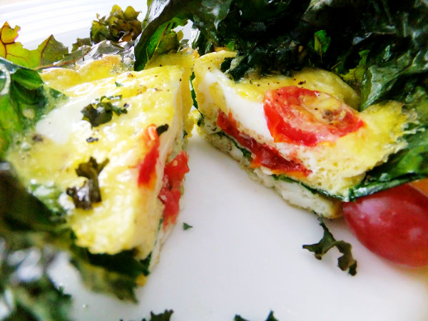 kale baked egg