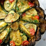 Roasted Vegetable Tart with Eggplant Crust