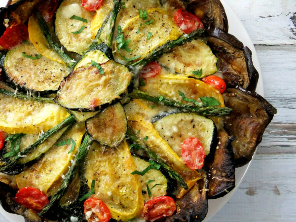 Roasted vegetable tart with eggplant crust proud italian cook vegetable tart with eggplant crust sciox Choice Image