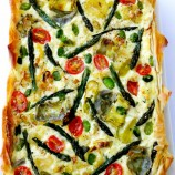 Spring Vegetable Ricotta Tart with Phyllo