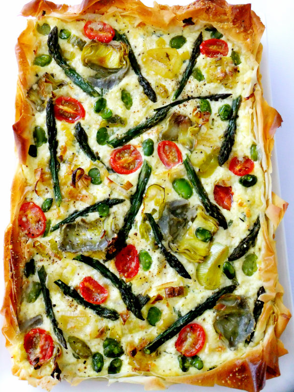 ... beans, a leek and a few cherry tomatoes? You make a tart of course