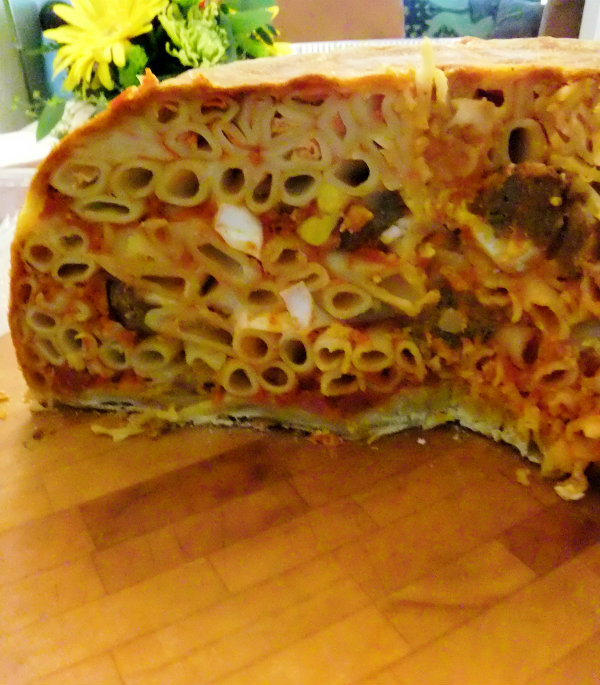 cut open timpano