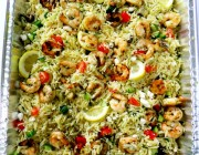 grilled shrimp and orzo salad