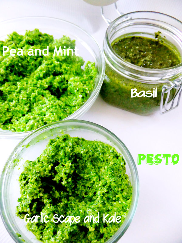 homemade garden pestos