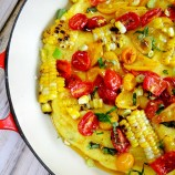Summer Polenta Pizza with Grilled Corn and Roasted Tomatoes
