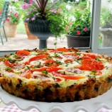 Tomato Tart with Brown Rice Crust