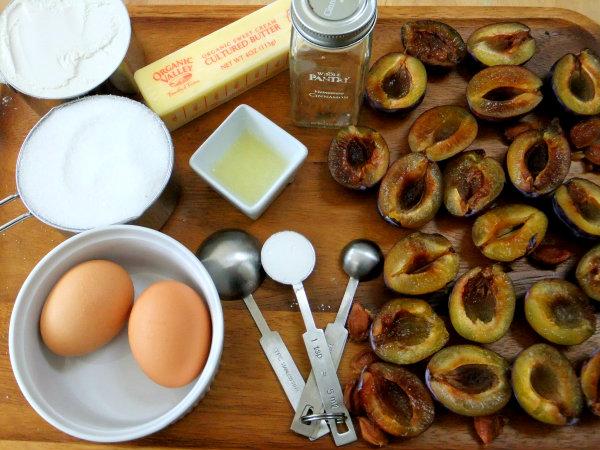 ingredients for plum torte