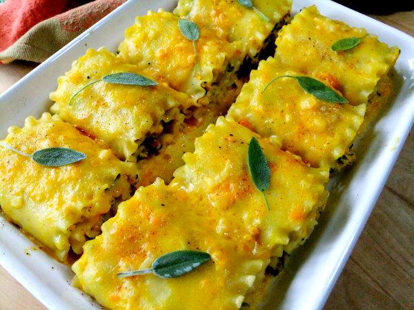 butternut squash lasagna roll ups