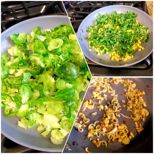 ingredients for brussel sprout pie