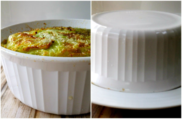 unmolding stuffed cabbage cake