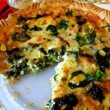 Brussels Sprout, Kale and Corn Pie