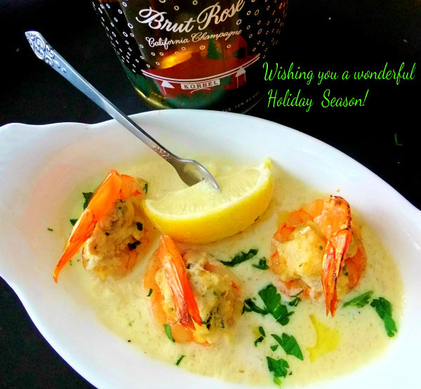 crab stuffed shrimp with champagne cream sauce