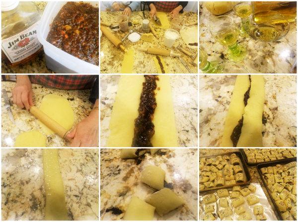 making Italian fig cookies