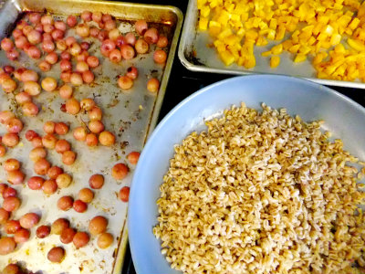 ingredients for roasted grape salad