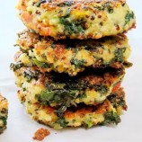 Kale and Quinoa Patties with Sundried Tomatoes and Romano Cheese