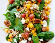 Winter Salad with Roasted Grapes and Farro