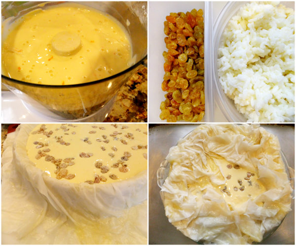 The makings of an Easter Italian rice pie