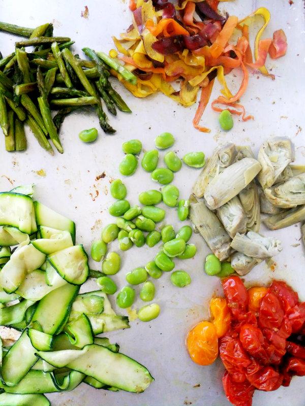 springtime pasta ingredients