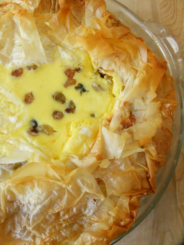 Easter Italian Rice Pie with Rum Soaked Raisins - Proud Italian Cook