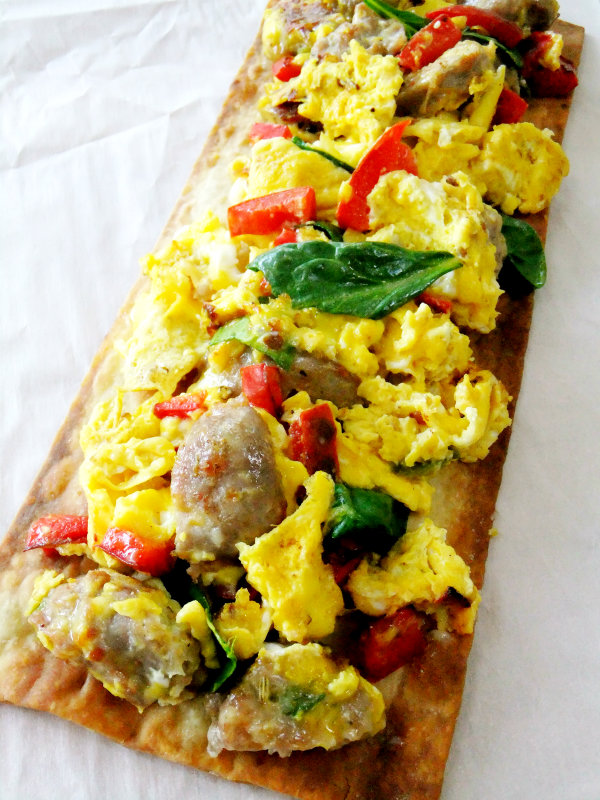 how to make scrambled eggs in a pizza oven