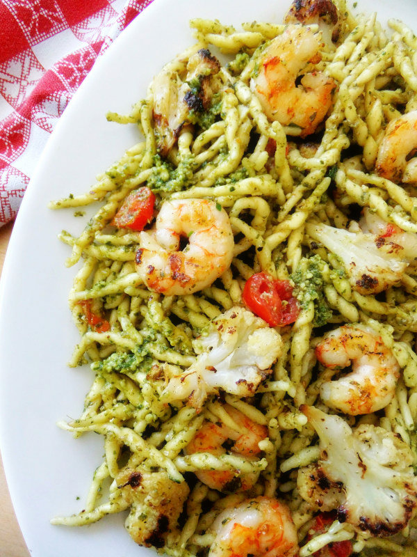 Shrimp, String Beans And Pasta With Pesto Sauce Recipes — Dishmaps