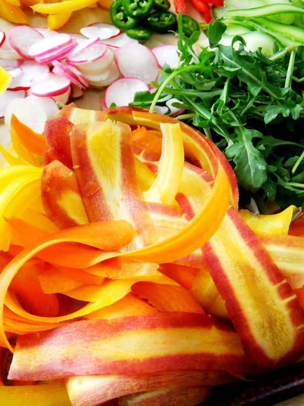 carrot ribbon salad ingredients