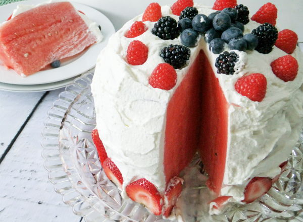 Red White And Blue Fruit Cake