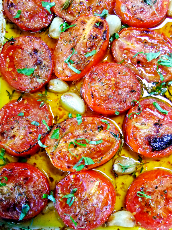 roasted garlic tomatoes