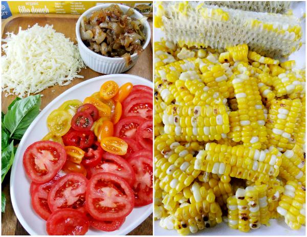 tomato and corn tart ingredients