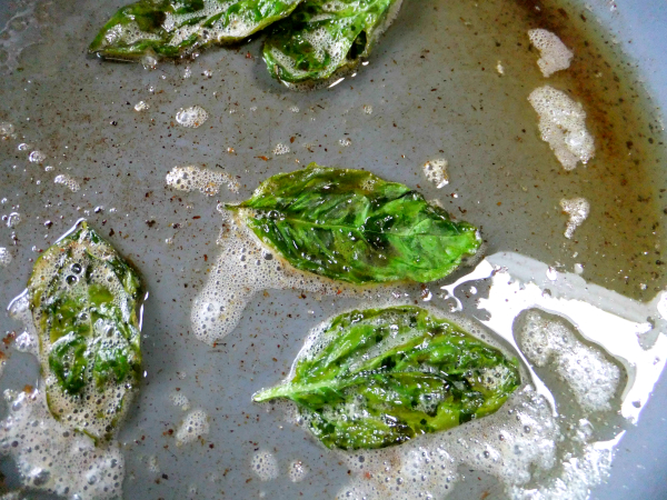 brown butter and basil