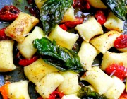 Gnocchi with Brown Butter, Basil and Blistered Tomatoes