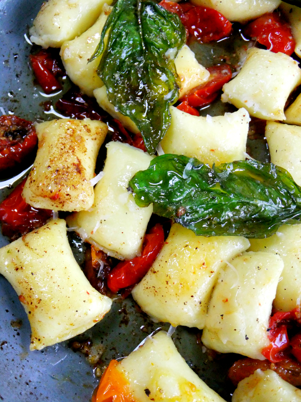 gnocchi brown butter, basil and tomatoes