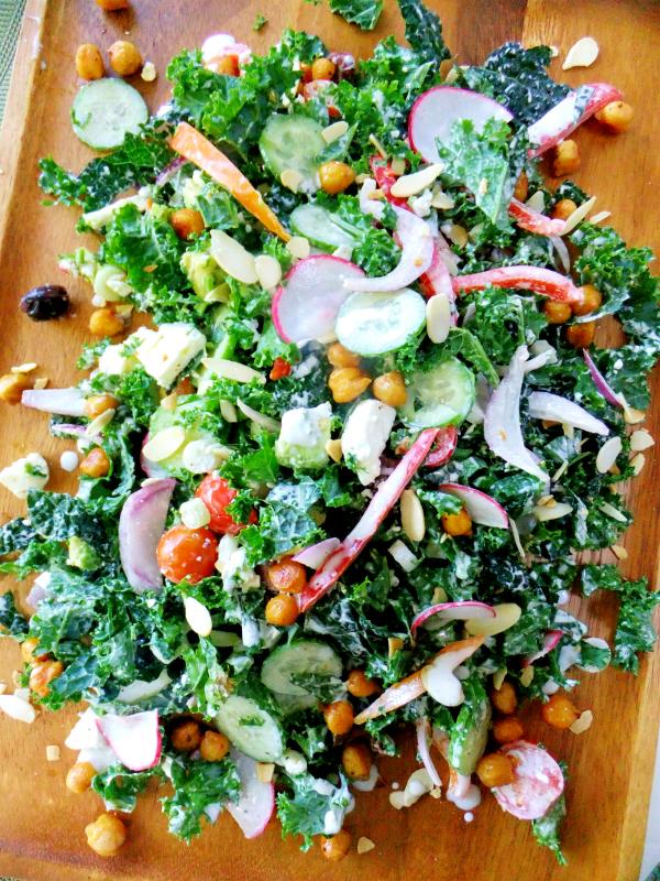 creamy lemon kale salad