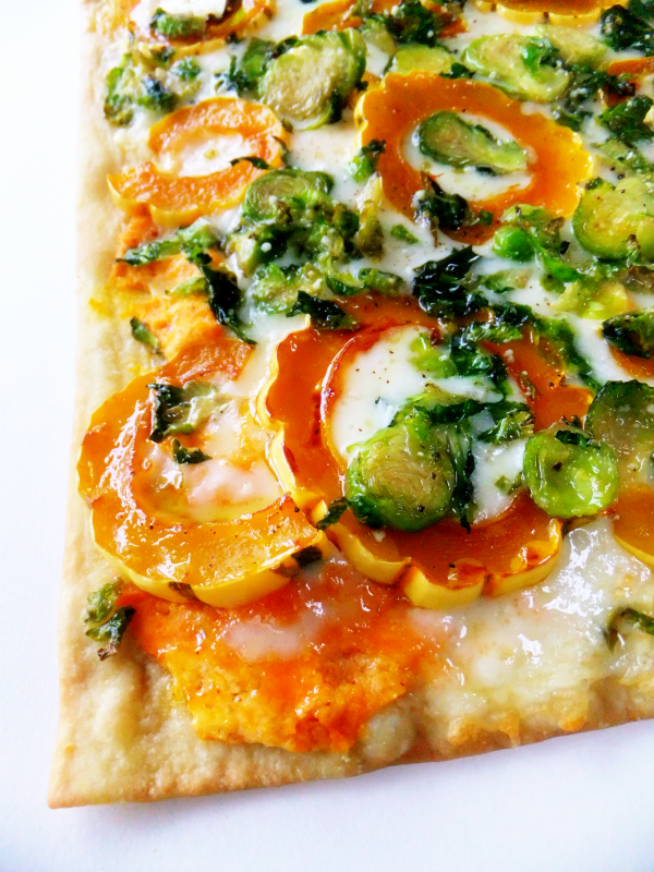 brussels sprouts and squash flatbread