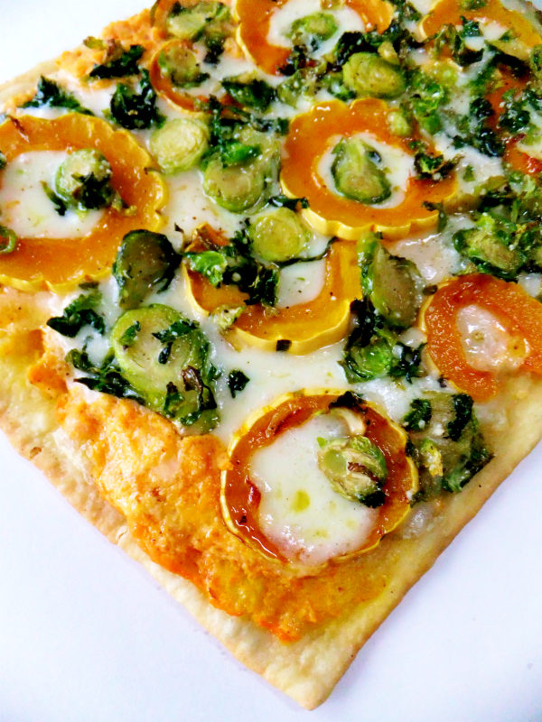 brussels sprout and squash flatbread