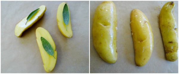 fingerling potatoes with sage