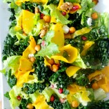 Winter Salad with Squash and Hardy Greens