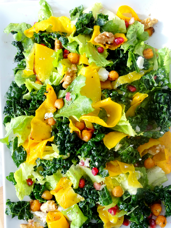salad of squash and winter greens
