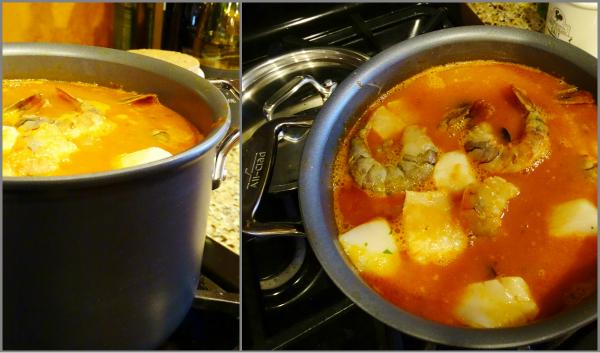 simmering cioppino