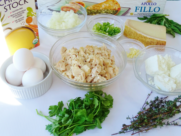 chicken phyllo pie ingredients
