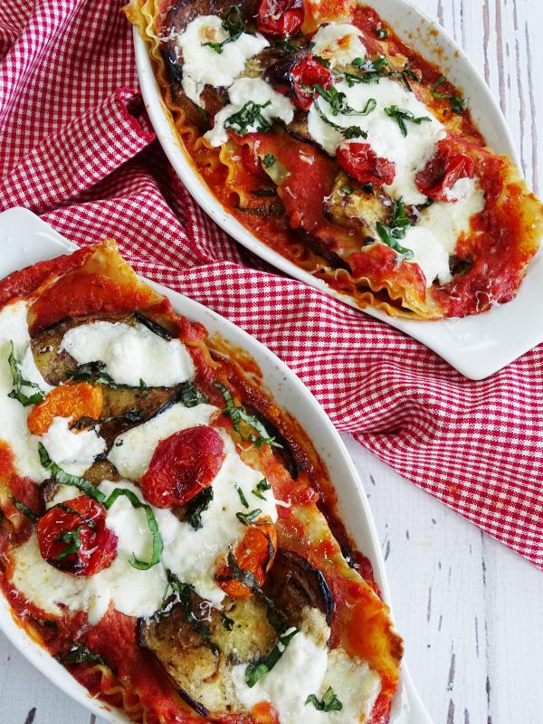 eggplant burrata lasagna