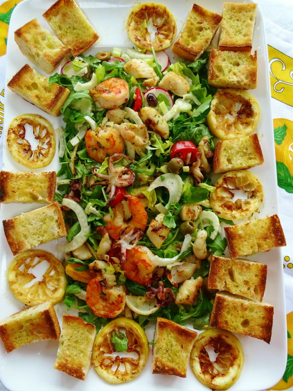 summer seafood salad