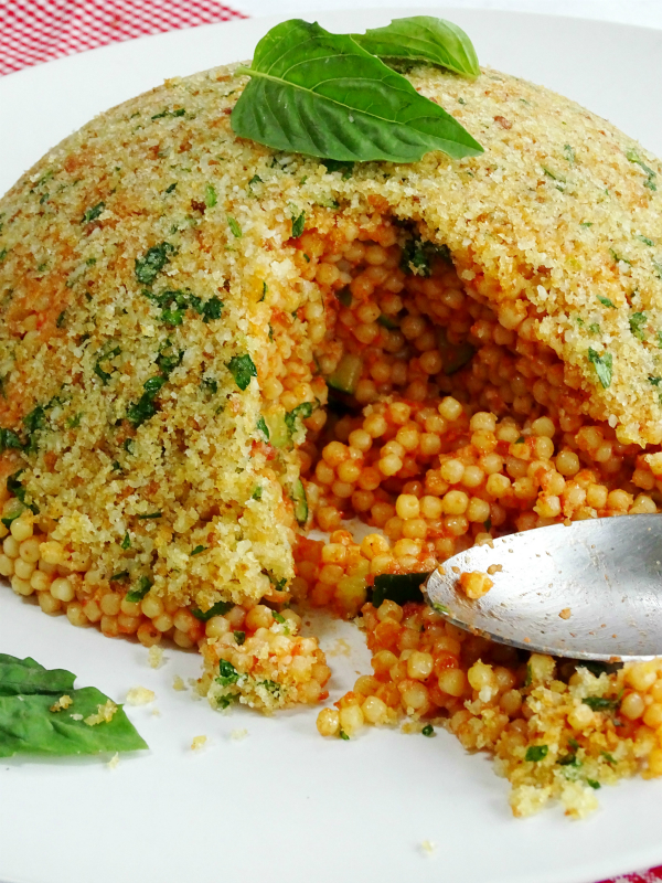 pastina timbale with zucchini