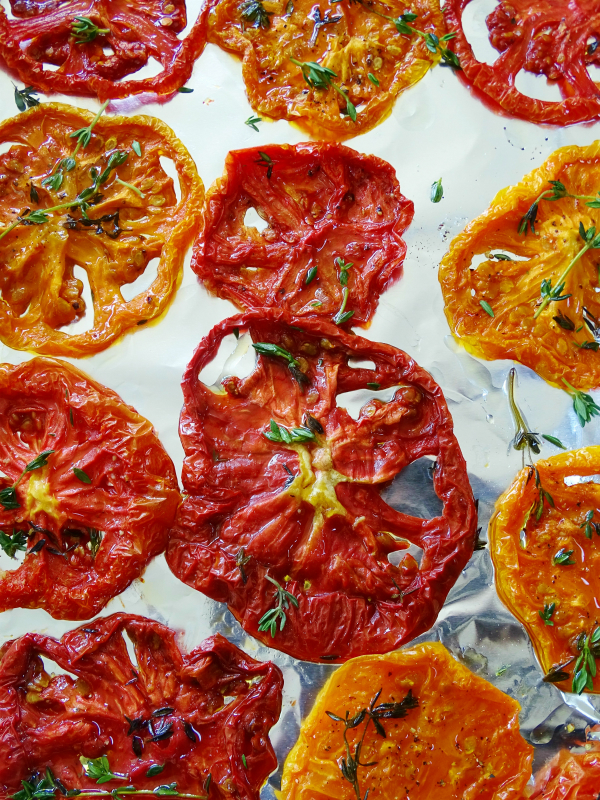 slow roasted heirloom tomatoes