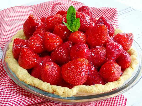 and simple and still relevant for today, fresh berries, a baked pie ...