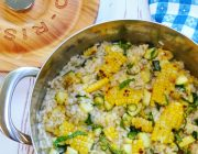 Grilled Corn and Zucchini Summer Risotto