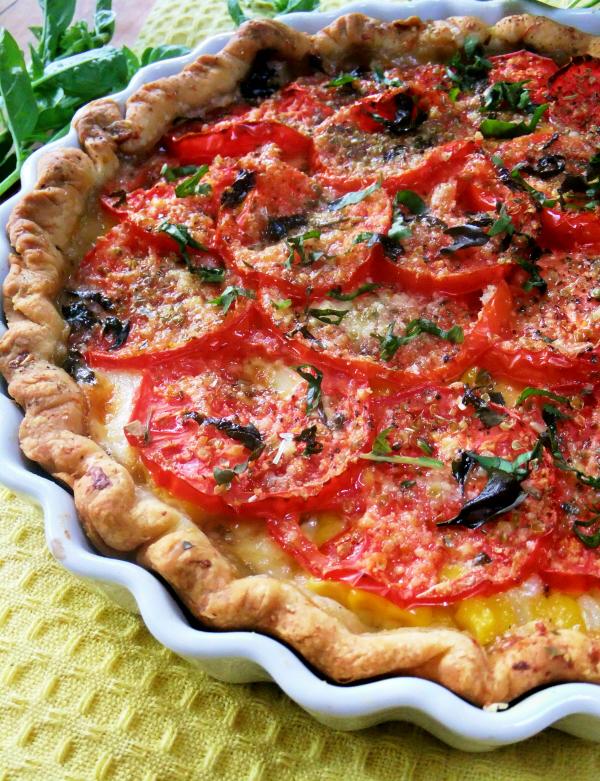 tomato and corn pie